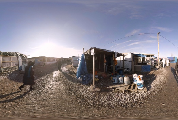 The Jungle, Calais (Gear VR, Android, iOS) | Sky News
