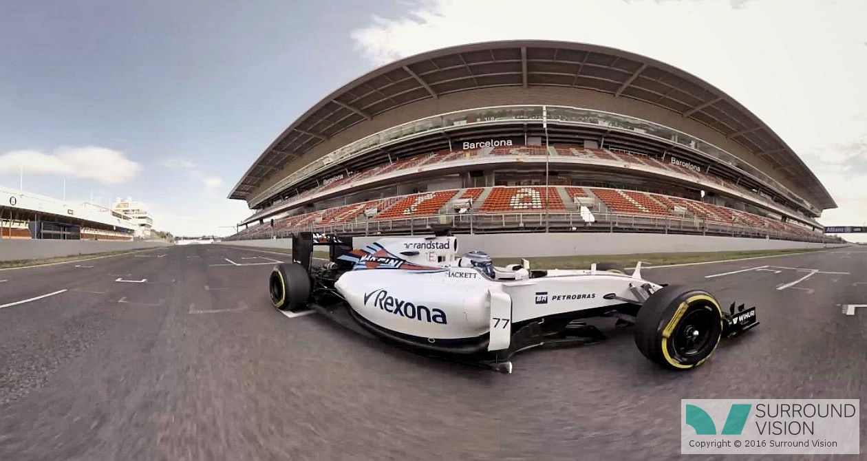 slider slider f1 williams in 360 degrees, on the track, 3