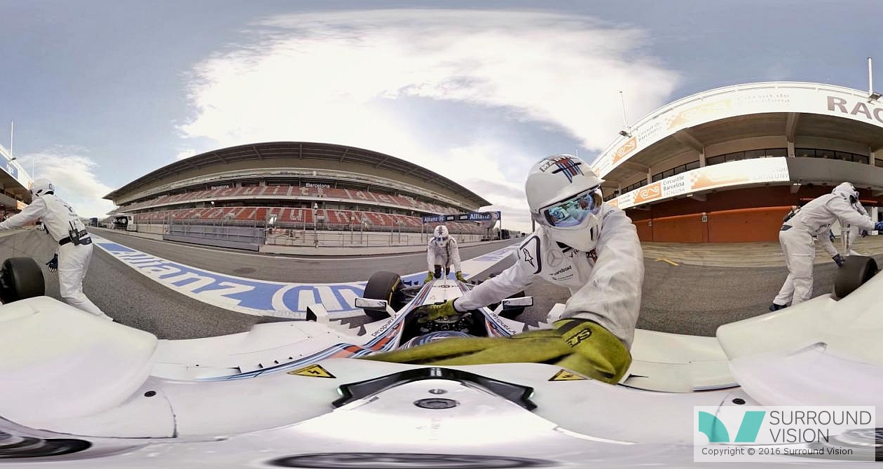 slider slider f1 williams in 360 degrees in Pit Lane 4