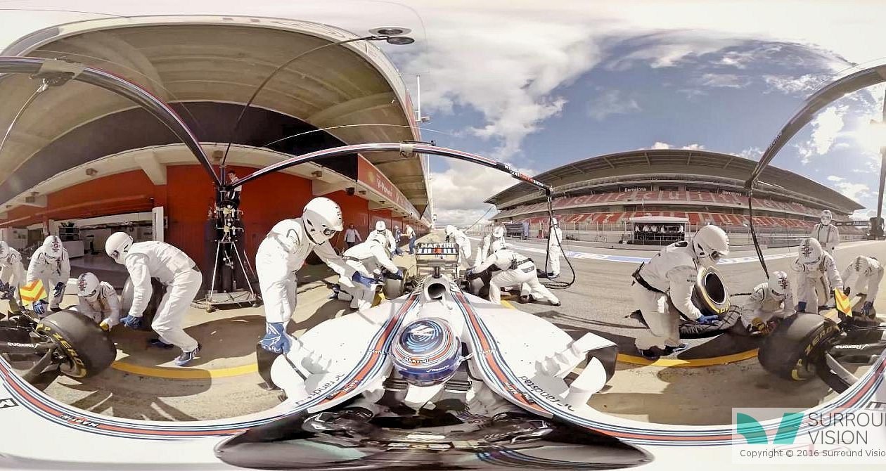 slider f1 williams in 360 degrees in Pit Lane 5